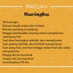 Puisi Lucu Anak SD