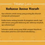Tebakan Lucu Bahasa Jawa