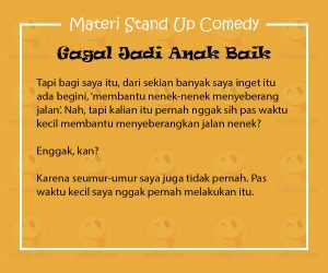 Materi Stand Up Comedy Arie Kriting
