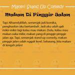 Materi Stand Up Comedy Babe Cabita