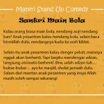 Materi Stand Up Comedy Islami