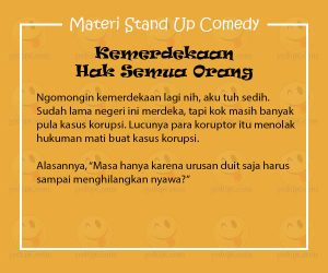 Materi untuk Stand Up Comedy for Independence