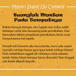 Materi Stand Up Comedy Mantan