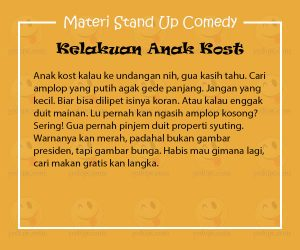 Materi Stand Up Comedy Mongol Stres