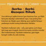Materi Stand Up Comedy Raditya Dika