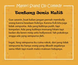 Materi Stand Up Comedy Singkat