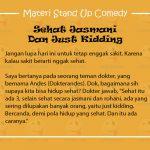 Materi Stand Up Comedy Tentang Kesehatan
