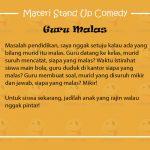 Materi Stand Up Comedy Tentang Pendidikan