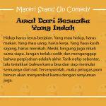 Materi Stand Up Comedy Tentang Perpisahan