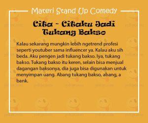 Materi Stand Up Comedy Uus